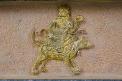 zodiac sculptures - stock photo