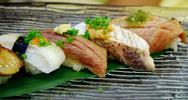 Stock Photo of sushi set, japanese cuisine