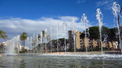 Fountain jets Stock Footage