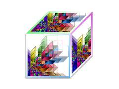 Cube - Abstract geometrical shape Stock Illustration