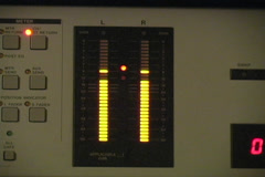 Digital Console Level Meter Stock Footage