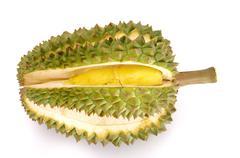 fresh durian isolated - stock photo