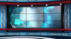 Breaking News Modern Virtual Studio Set Loop Stock Footage