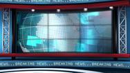 Breaking News Modern Virtual Studio Set Loop Stock Footage