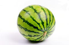 Stock Photo of sweetness watermelon from japan on white background