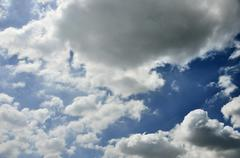 Stock Photo of cloud in blue sky
