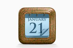 Calendar, january month Stock Illustration