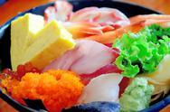 Sashimi close up Stock Photos