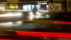 poole christmas light trails 10 - stock footage