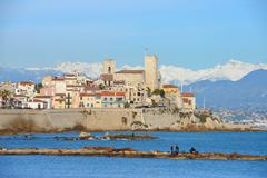 Old town of Antibes, French Riviera - stock photo