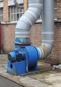 Industrial extractor fan - stock photo