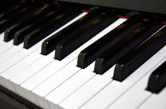 Stock Photo of piano keys background