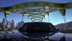 Pittsburgh Driving Fort Duquesne Bridge 3909 Stock Footage