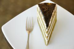 Stock Photo of matcha green tea cake