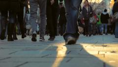 People walking on the street_04 Stock Footage