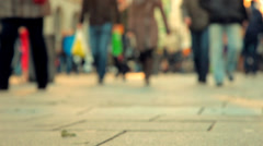 People walking on the street_01 Stock Footage