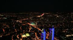 night city light - stock footage