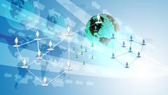 Stock Illustration of Networking and Digital Technology concept background