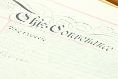 Retro documents - stock photo