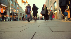 People walking on the street_02 Stock Footage