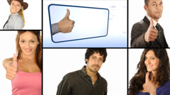 People like it, collage Stock Footage