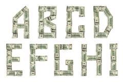 Dollar alphabet Stock Photos