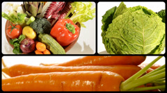 Vegetables, montage Stock Footage