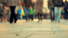 People walking on the street_Speed50%_01 Stock Footage