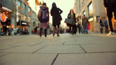 People walking on the street_Speed50%_02 Stock Footage