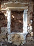 Close up of Ruins in Croatia - stock photo