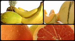 Fruits, montage Stock Footage