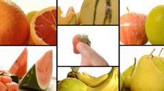 Fruit, vitamins, wellness, beauty Stock Footage