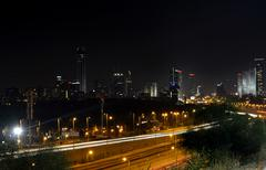Tel aviv night Stock Photos