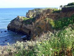 Cliff line at algarve coast Stock Photos