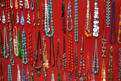 Necklace retail market Stock Photos