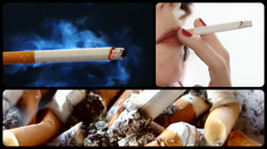 Danger of smoking series, three Stock Footage
