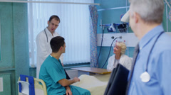 Portrait of smiling doctor on a hospital ward Stock Footage