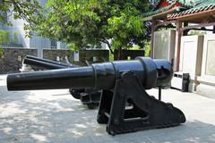 Ancient cannon in the chinese museum outdoor Stock Photos