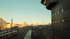 Railway station of Munich Stock Footage