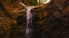 Cave waterfall medium shot 4K Stock Footage