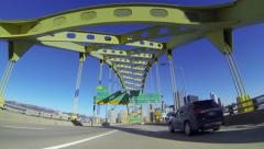 4K Welcome to Pittsburgh Fort Pitt Bridge 3911 Stock Footage