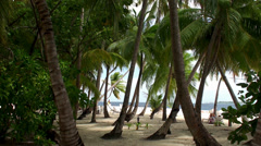 View of the Maldives beach. Stock Footage