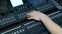 Work of the Digital Audio Mixing Console. Stock Footage