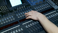 Stock Video Footage of Work of the Digital Audio Mixing Console.