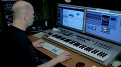 Work of sound producer in the audio recording studio. Stock Footage