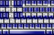 Stock Illustration of computer keyboard with greece flag concept