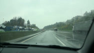 Stock Video Footage of Windscreen and wipers on a rainy day
