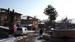 Village life at Göynük Stock Footage