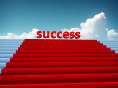 Top of success red carpet Stock Illustration
