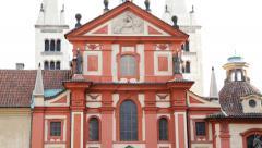 Church Of St George Prague Stock Footage